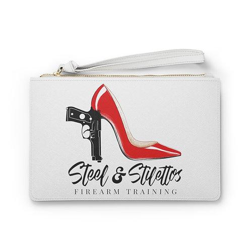 Steel and Stilettos Clutch Bag
