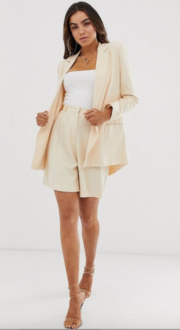 Linen Shorts and Blazer