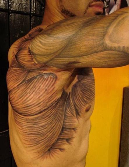 3D татуировка, пример готовой татуировки
