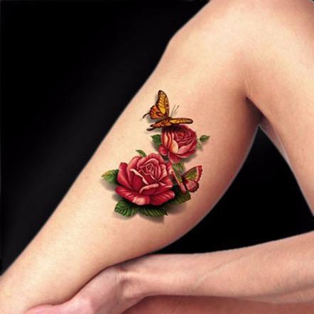 3D татуировка для девушек, пример готовой татуировки