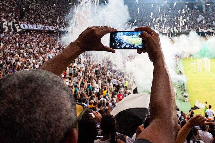 Football Crowd Mobile Phone.JPG