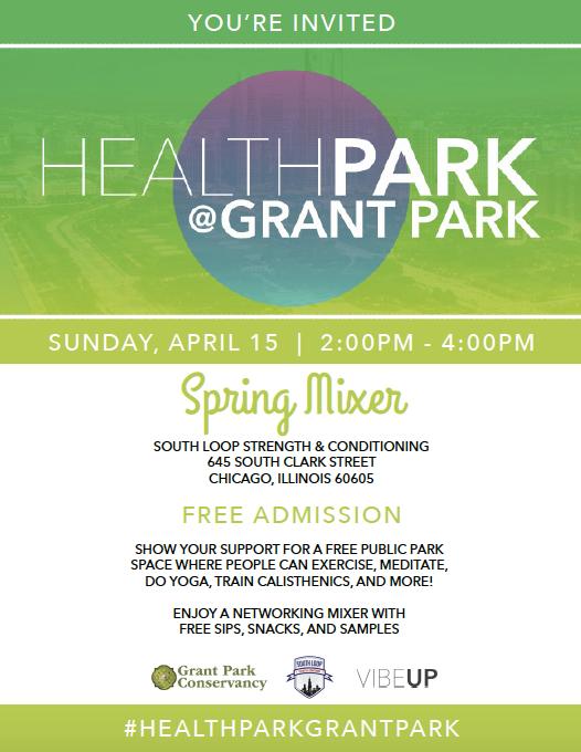 Health Park at Grant Park Spring Mixer South Loop CrossFit
