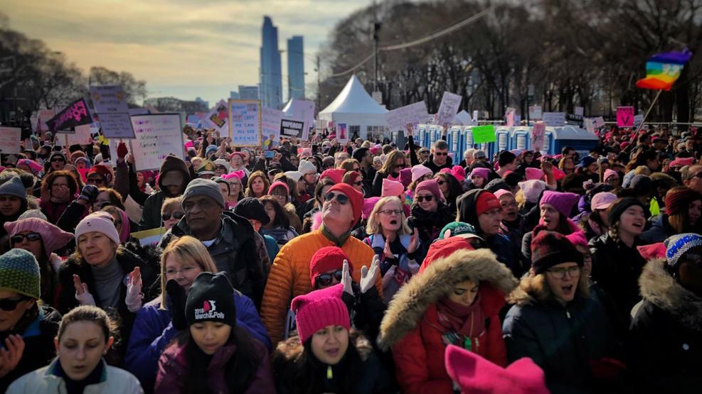 Women's March Chicago Grant Park Photo Credit: NBC Chicago
