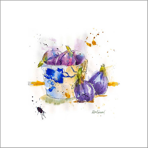 Figs in Blue and White Bowl