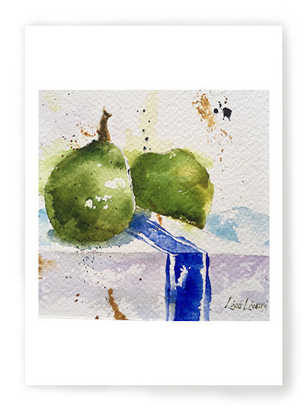 Pears on French Towel C050
