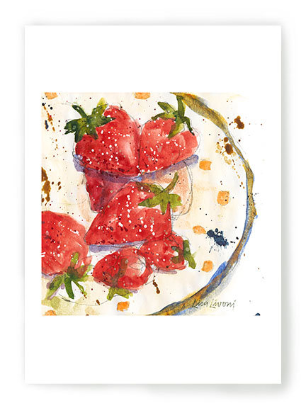 Strawberry Plate C051