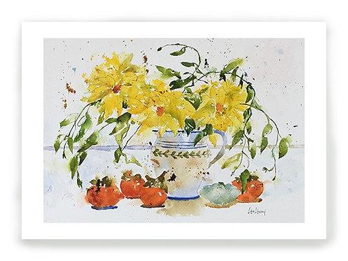 Yellow Dahlias C001