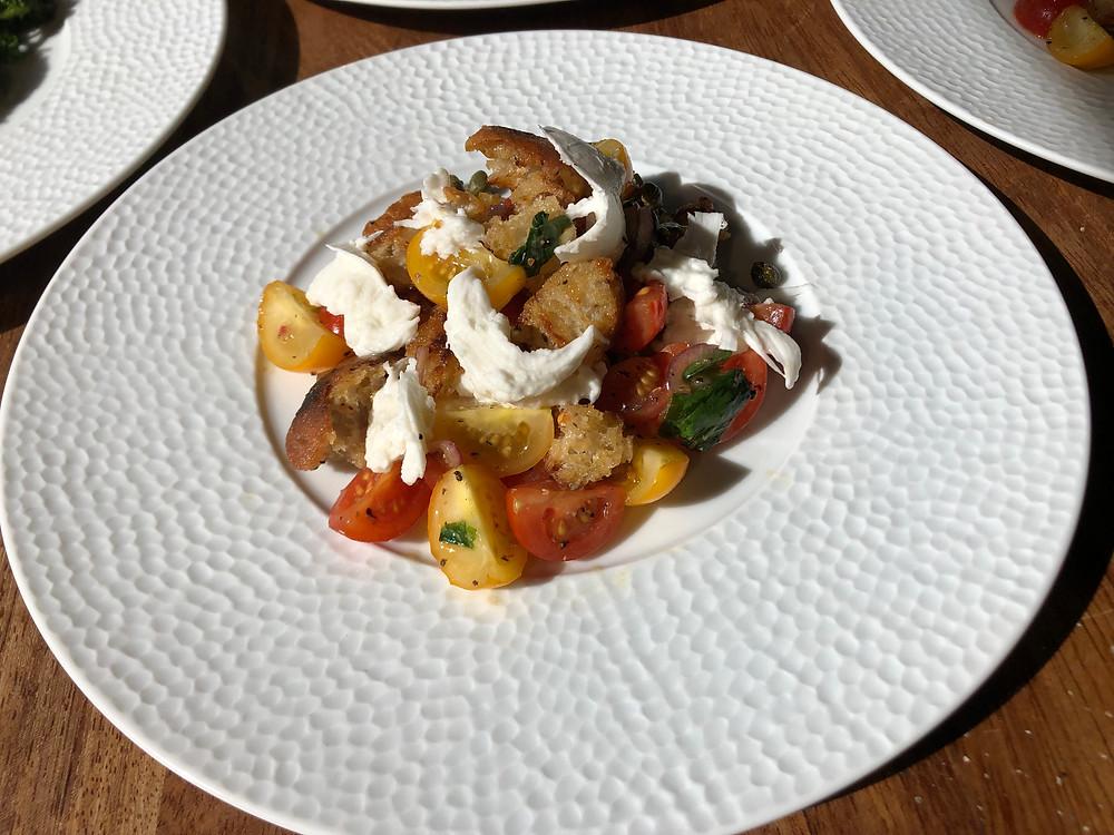Panzanella Salad with with Mozzarella