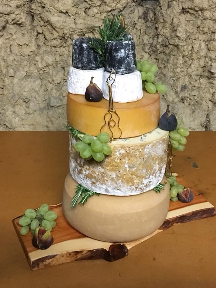 Cheese tower wedding evening food