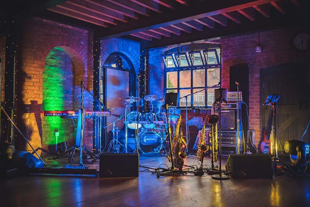 The Soul Dept live band stage set up