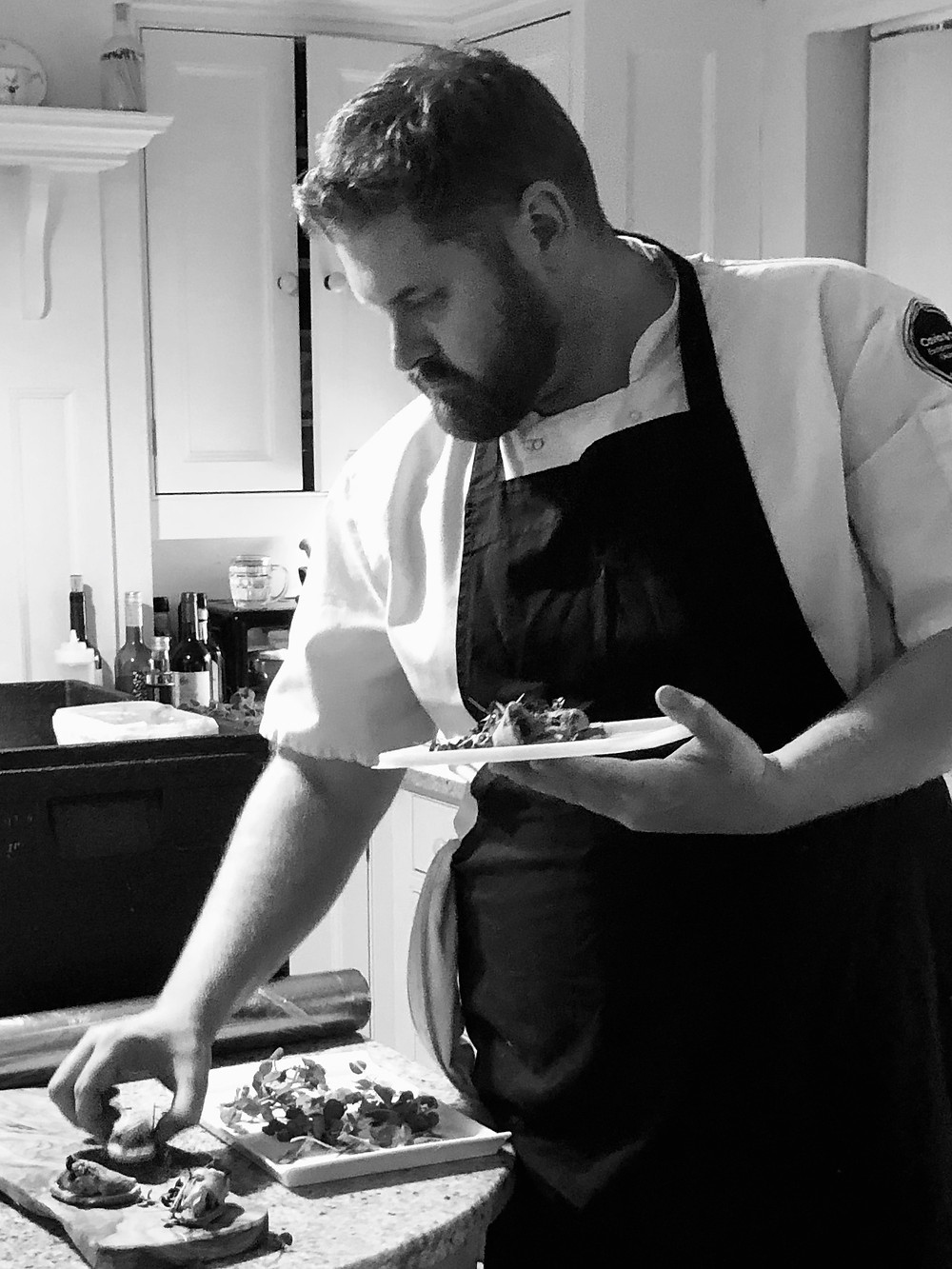 Head Chef, Mike Scott at Caviar & Chips catering