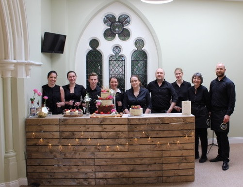 Caviar & Chips team and drinks bar at St Paul's Church in Leamington Spa