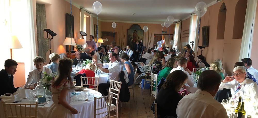 Wedding breakfast Holme Pierrepont Hall in Nottinghamshire