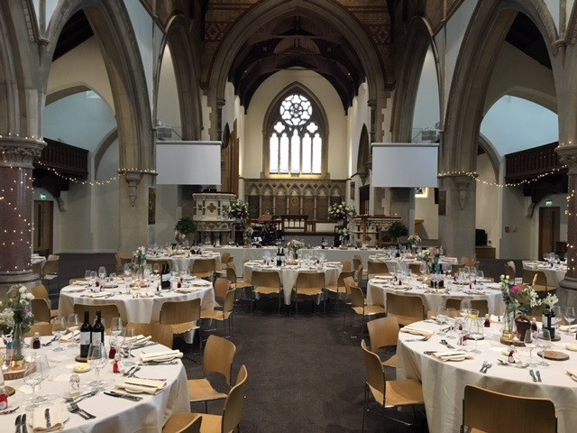 St Paul's Church in Leamington Spa - wedding catering