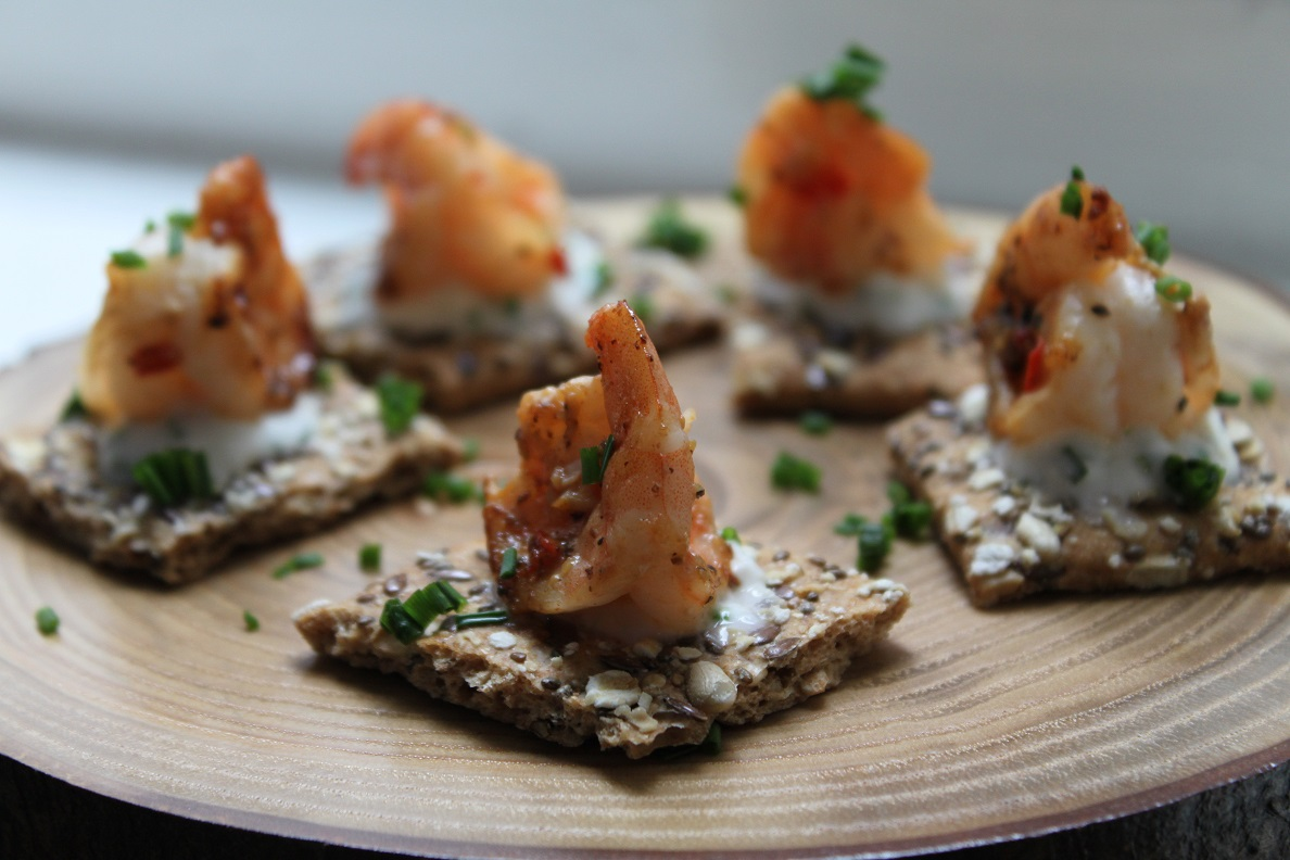 King Prawn canapes