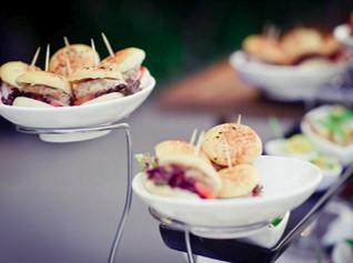 Mini burger wedding canapés