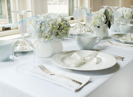 Six inspiring ideas for crockery and tableware at your wedding