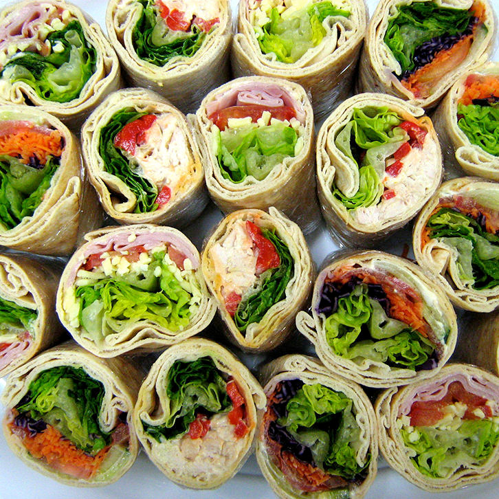 Pitta and wraps buffet catering