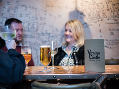 Drinks at the Virgins & Castle pub Kenil