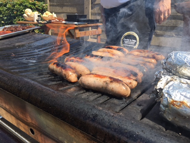 Wedding catering evening food BBQ outdoor