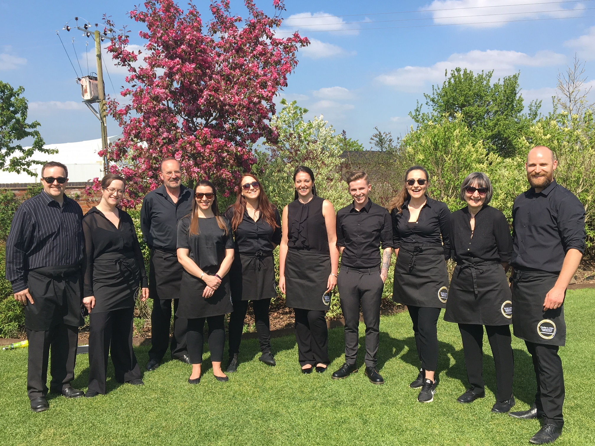 Caviar & Chips Catering service team wed