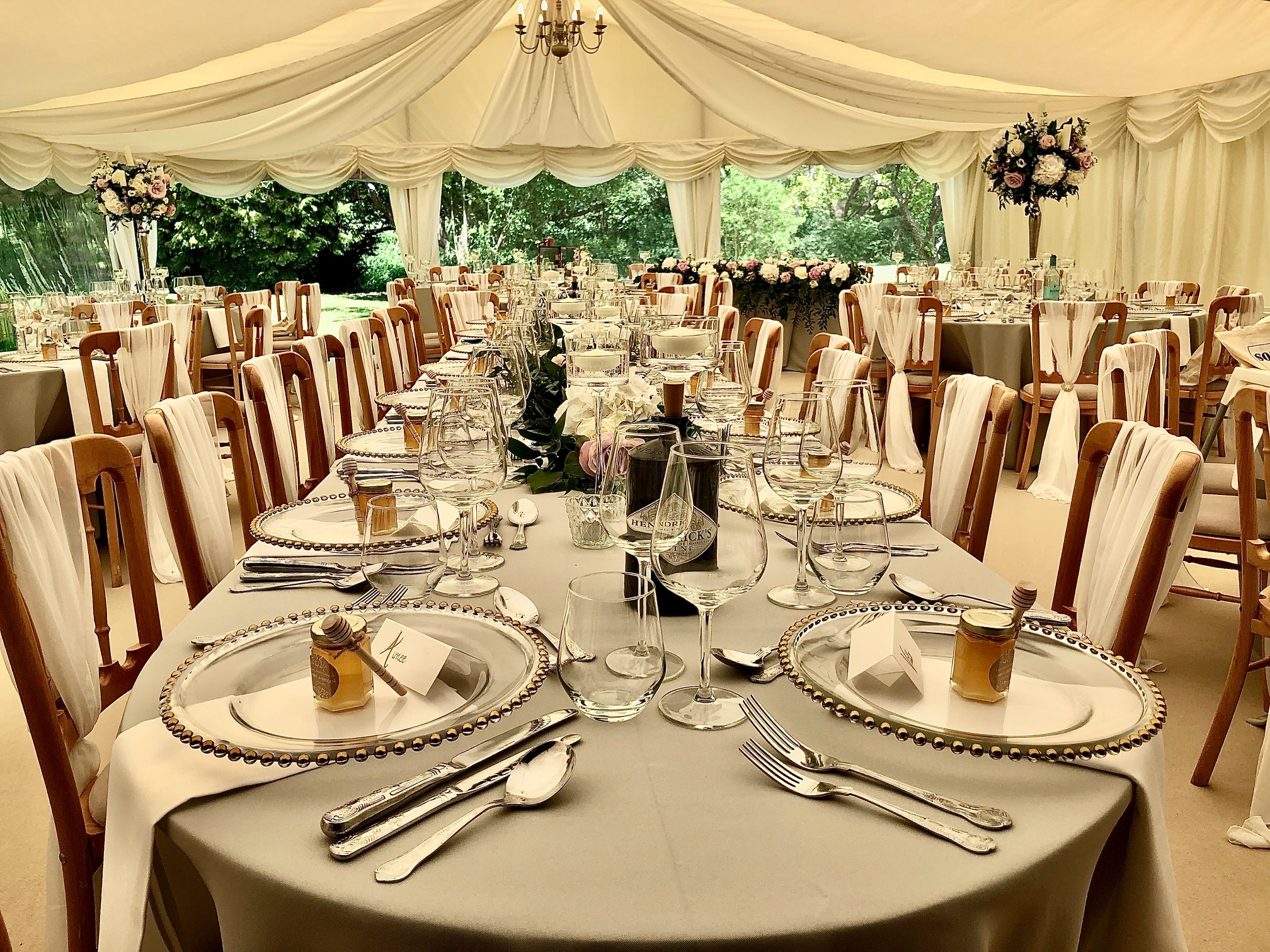 Marquee wedding tables