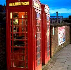 A Pair of K6 Telephone Boxes (1935)