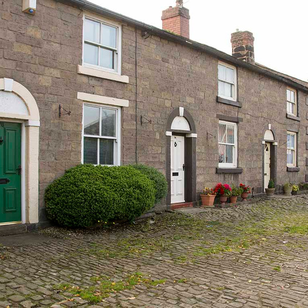 ADLINGTON LANCASHIRE: A ROW OF WORKERS COTTAGES