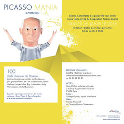 Invitation exposition Picasso