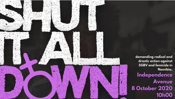 From a on a line webpage dedicated to #ShutItAllDown by AfterBreak, a Namibian Teen Magazine.