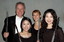 After a flute quartet performance