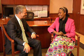 Russ Feingold and Neema in Russ' office
