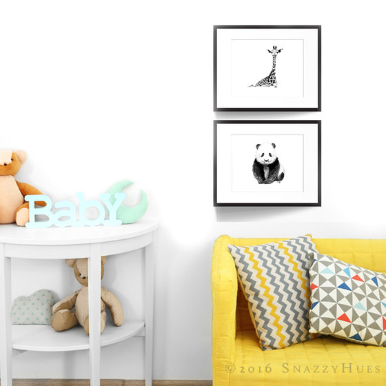 Nursery prints by SnazzyHues!