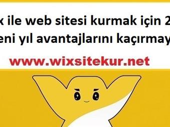 Wix ile web sitesi kurmak için 2018 yeni yıl avantajlarını kaçırmayın