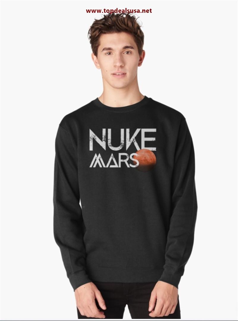Nuke Mars Space Exploration Rocket Terraform Design Pullover Sweatshirt