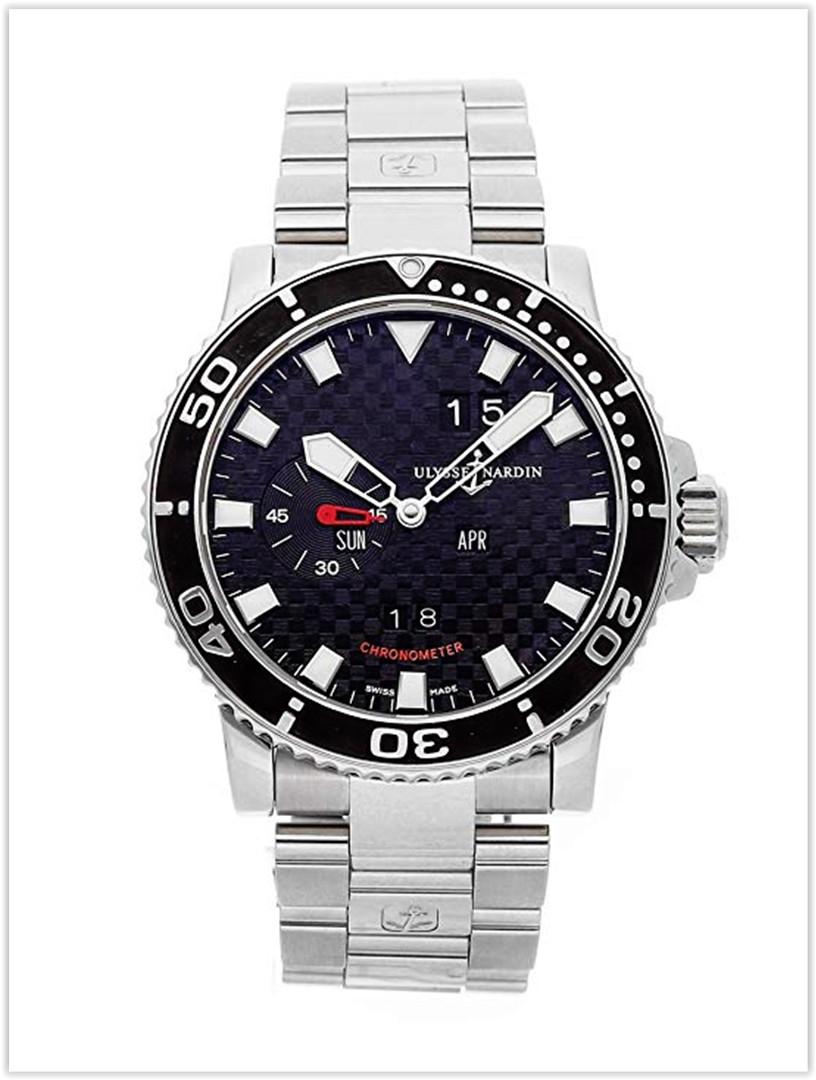 Ulysse Nardin Acqua Perpetual Calendar Mechanical Black Dial Men's Watch Price