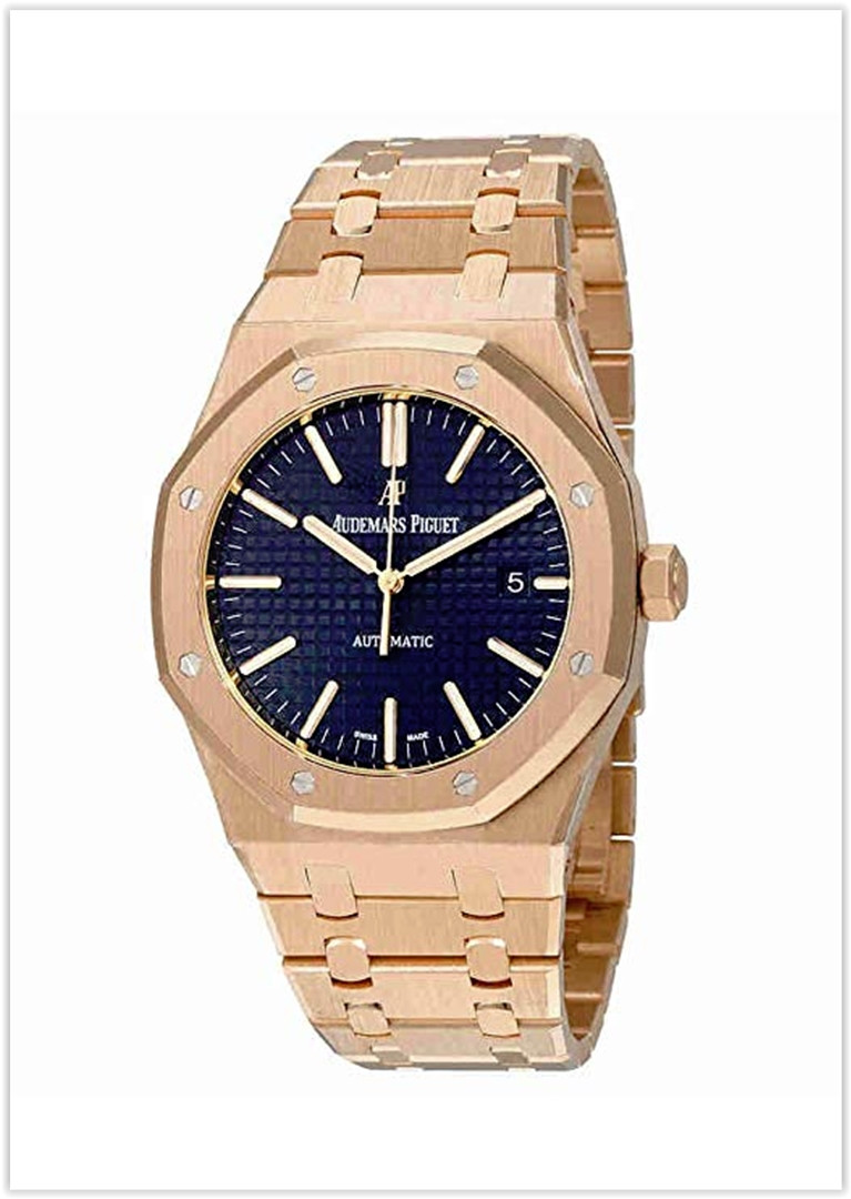 Audemars Piguet Royal Oak Automatic Blue Dial 18kt Pink Gold Men's Watch price