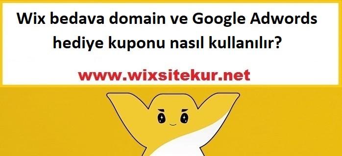 Wix bedava domain ve Google Adwords hediye kuponu nasıl kullanılır?