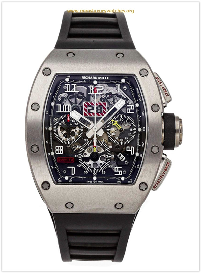 Richard Mille RM 011 Mechanical (Automatic) Skeletonized Dial Mens Watch RM011 AK TI