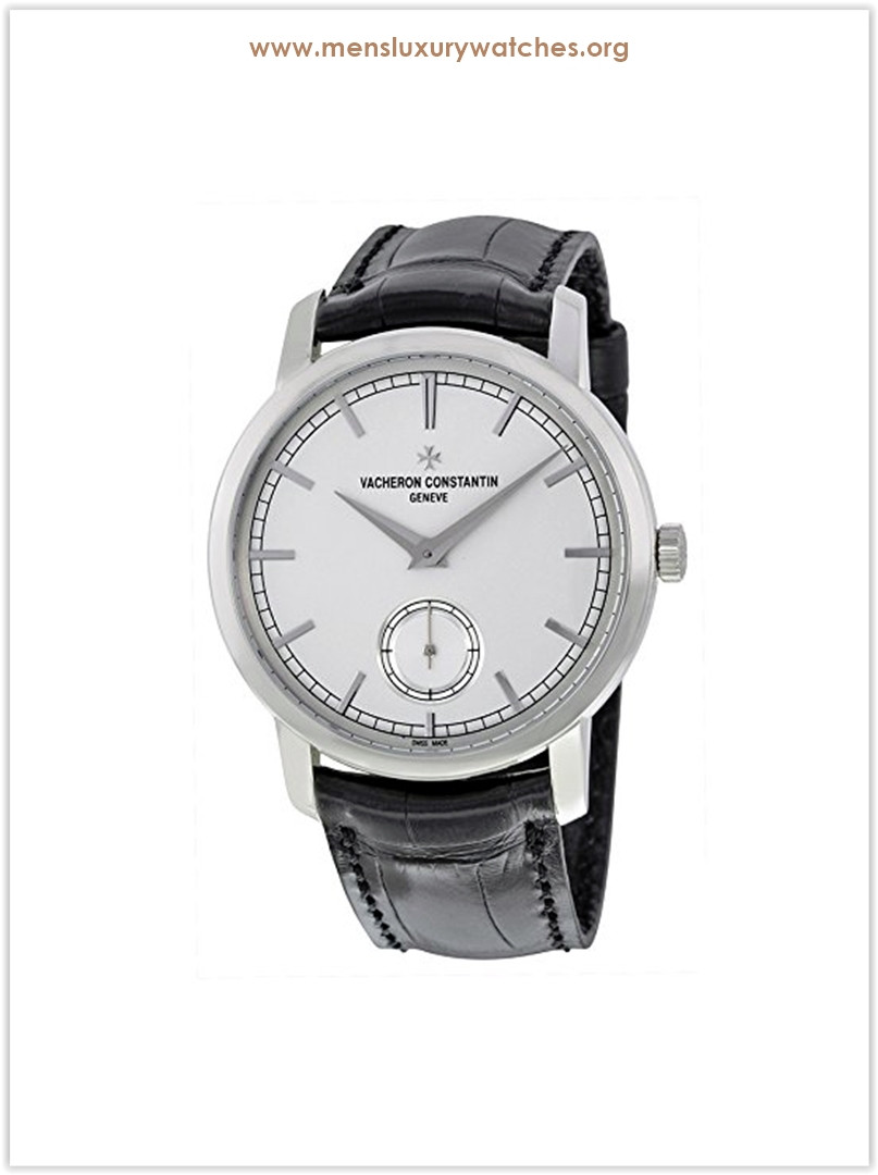 Vacheron Constantin Traditionnelle Silver Dial Black Leather Men's Watch Price