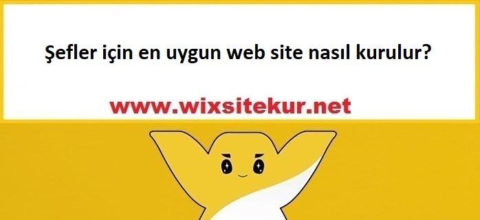 Şef için web site