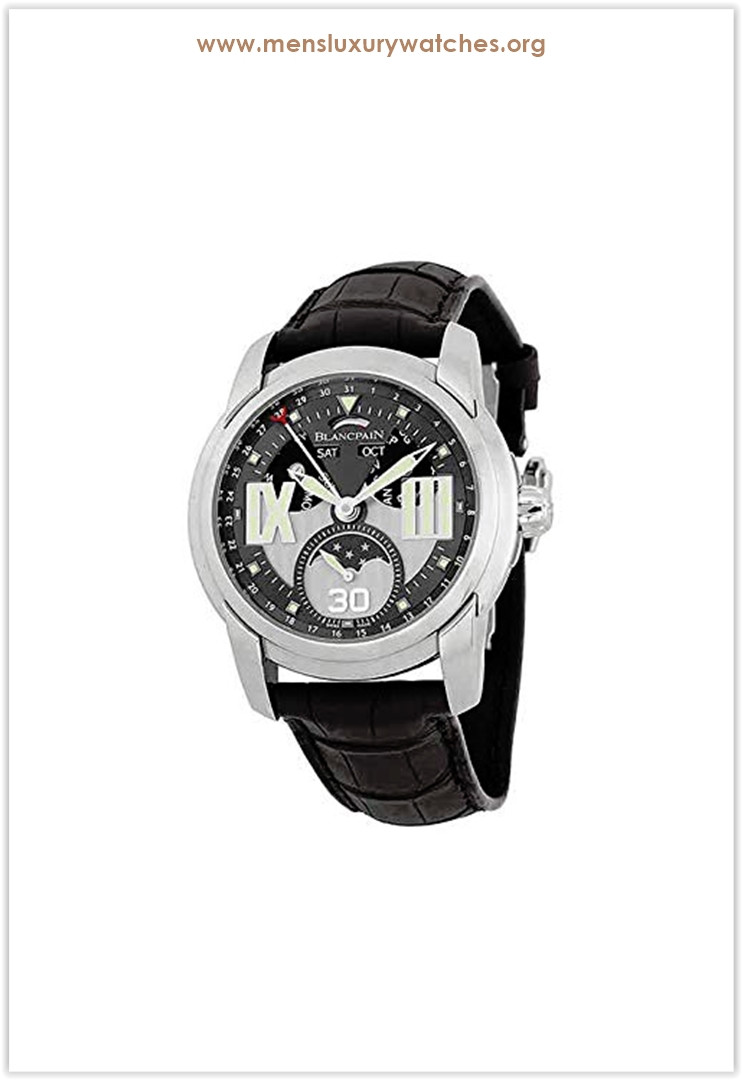 Blancpain L-Evolution Grey Dial Black Crocodile Leather Men's Watch Price