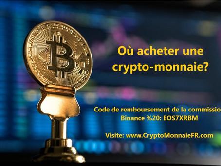 Où acheter une cryptomonnaie?