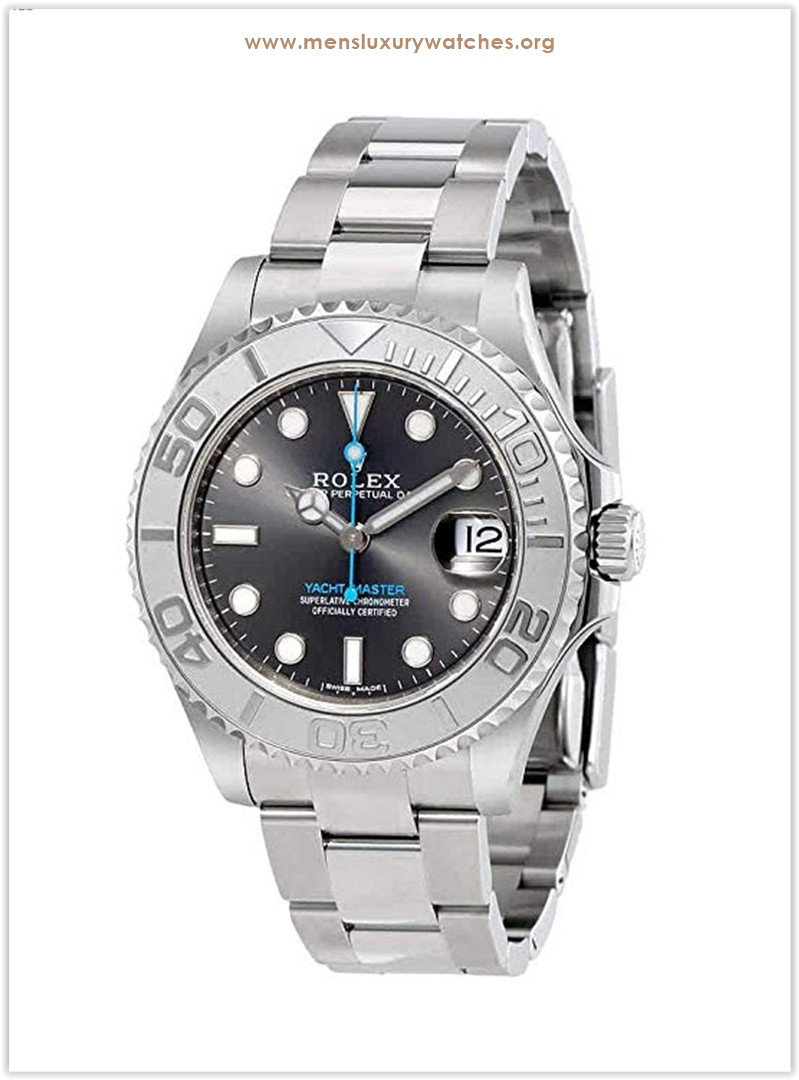 Rolex Yacht-Master Rhodium Dial Steel and Platinum Oyster Midsize Men's Watch the best price