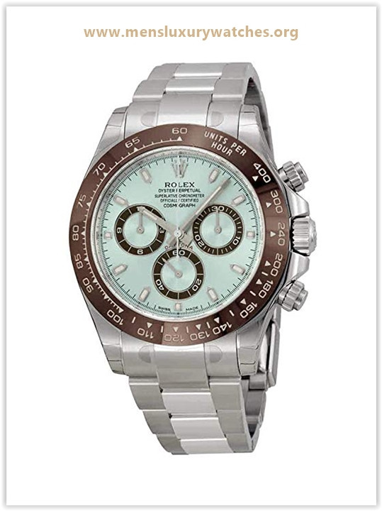 Rolex Cosmograph Daytona Ice Blue Dial Platinum Men's Watch