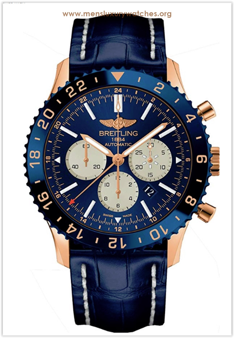 Breitling Chronoliner B04 Limited Edition of 250 Exclusive Pieces In Rose Gold With Blue Dial Men's Watch Price