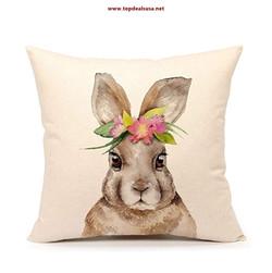 Rabbit Throw Pillow Case Cushion Cover