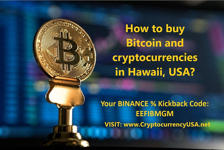 How to buy Bitcoin and cryptocurrencies in Hawaii, USA?