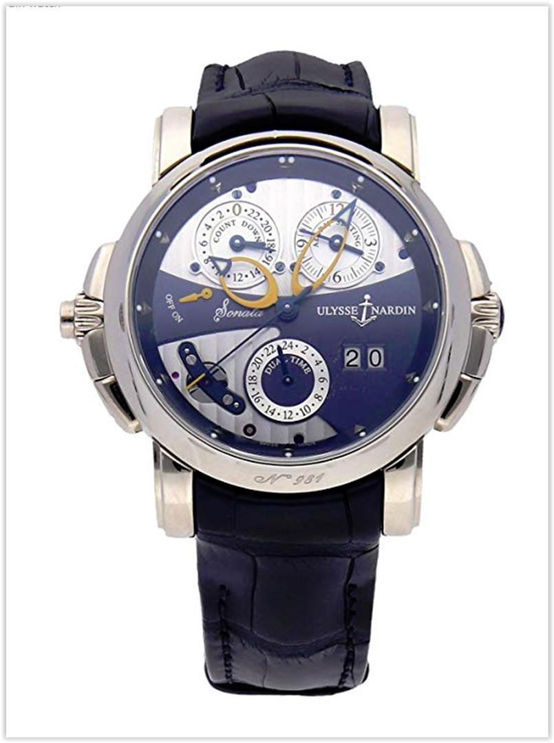 Ulysse Nardin Sonata Mechanical Blue Dial Men's Watch Price