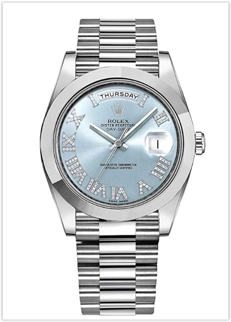 Men's Rolex Day-Date Platinum 41mm Men's  Watch with Diamond Roman Numeral price for the new year 2019